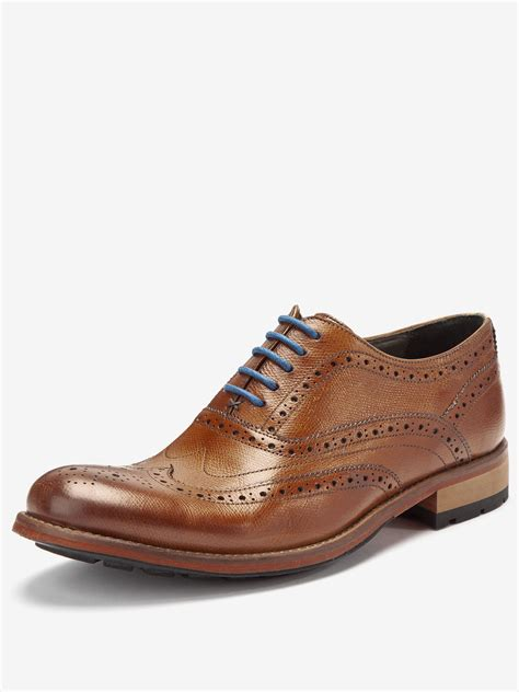 brogues shoes ted baker guri 5 mens leather brogue shoes in brown for