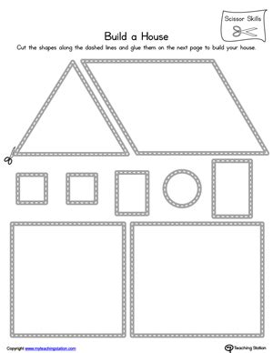 kindergarten activities my house kindergarten scissor skills printable worksheets