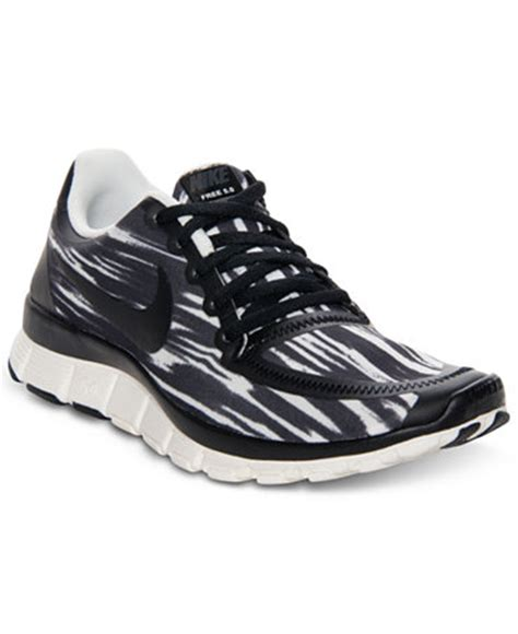macys athletic shoes nike s free 5 0 print running sneakers from finish