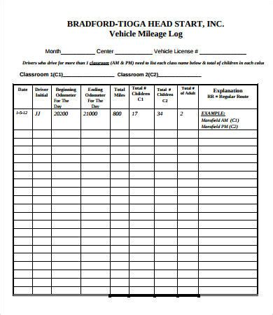 vehicle log book download at http www templateinn com 20 log