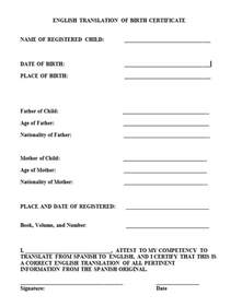 Translated Birth Certificate Template 15 birth certificate templates word pdf template lab