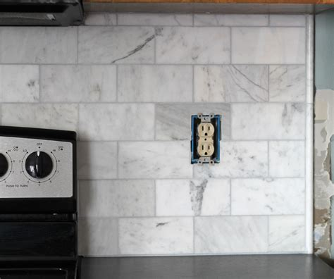 how to install a pencil tile backsplash and what it costs the the craft patch diy marble subway tile backsplash tips