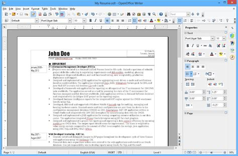 Download Layout Openoffice | openoffice cv template norsk image collections