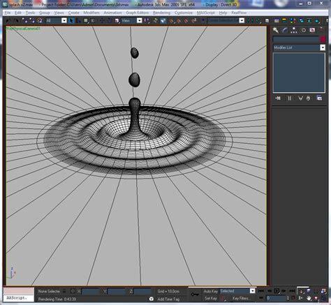 Gantungan Dinding Model Water Droplet water drop and splash 3d model