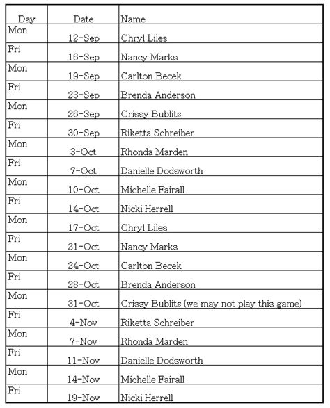 snack schedule template rotation schedule template calendar template 2016