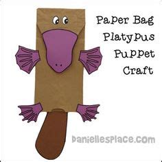 craft paper australia platypus printable book from www daniellesplace