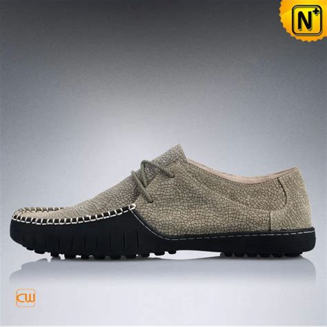 sport driving shoes mens leather driving moccasin shoes cw740100