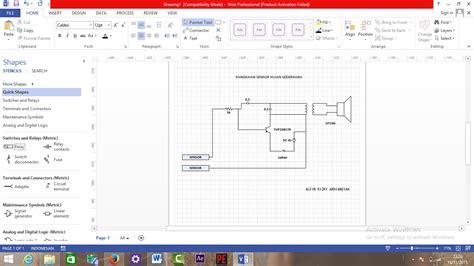 tutorial menggambar dengan visio cara menggambar rangkaian dengan menggunakan microsoft
