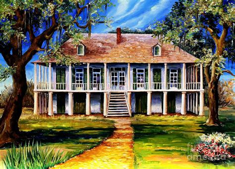 Plantation Home Plans old louisiana plantation painting by diane millsap