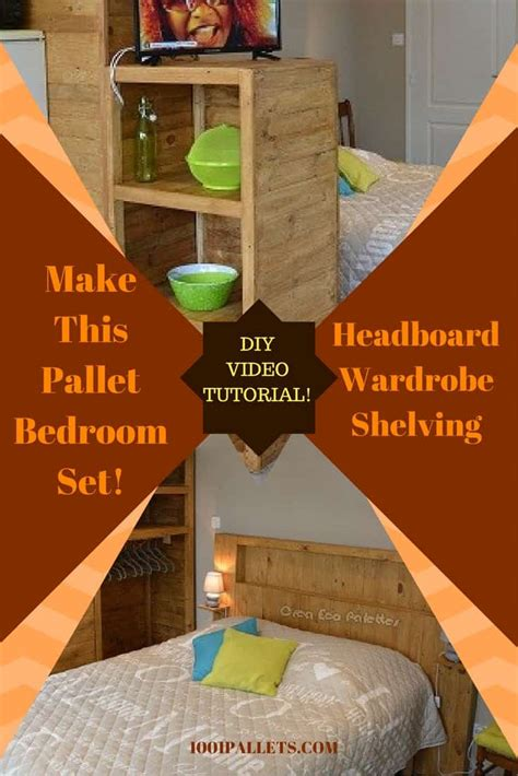 diy pallet bed tutorial diy tutorial pallet bedroom set ensemble de