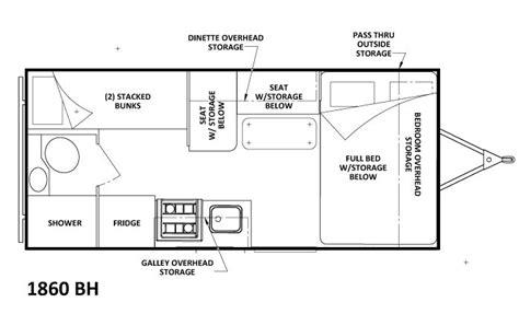 triple bunk travel trailer floor plans 17 best images about rv s on pinterest open range