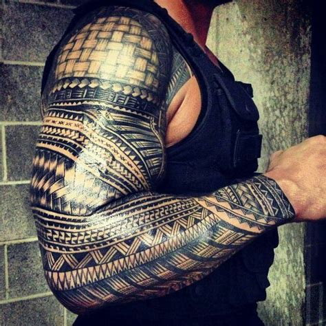 roman reigns tattoo reigns tribal sleeve tattoos