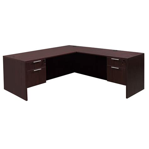 mahogany l shaped desk everyday 36 215 72 24 215 48 laminate l shape mahogany national