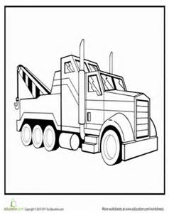 tow color tow truck coloring page education