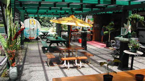 outdoor seating area with cover hana palms retreat botanical paradise at hana gardenland