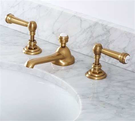 reyes lever handle widespread bathroom faucet pottery barn