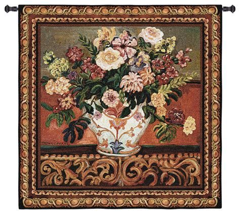 home decor tapestry usa woven tapestry wall hanging gena s vase large traditional tapestries by tapestry zest