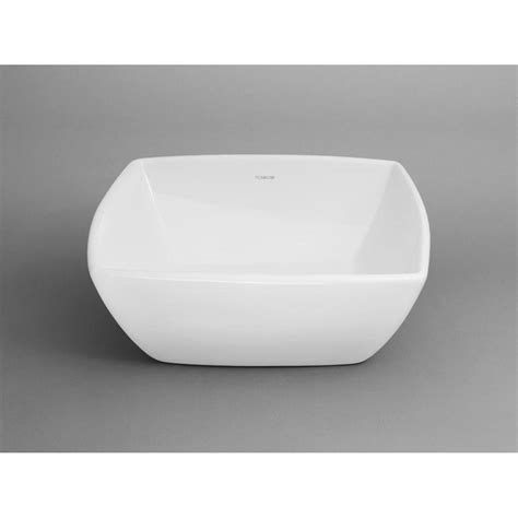 ronbow square vessel sink ronbow arched square ceramic vessel bathroom sink in white