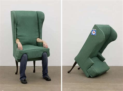 human furniture artworks arm chair by isenstein