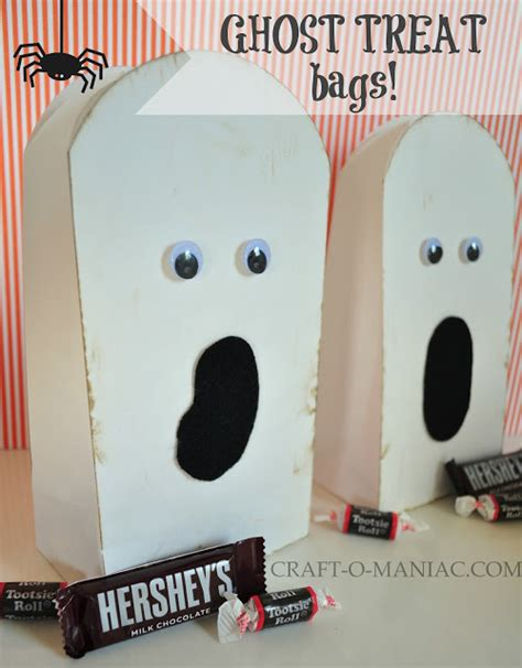 Paper Bag Ghost Craft - 10 minute paper ghost treat bags