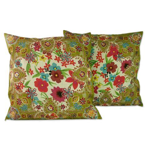 Handmade Cushion Covers Uk - unicef uk market handmade floral patterned cushion