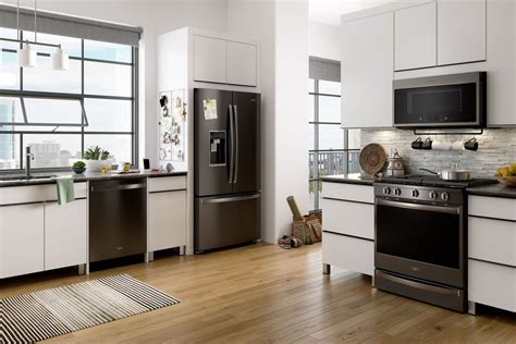 stainless steel kitchen appliances that don t show kitchen styles whirlpool
