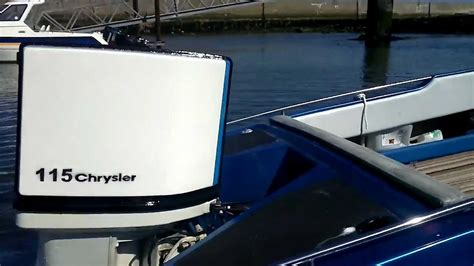 115 hp chrysler outboard boat 15 ft simms v