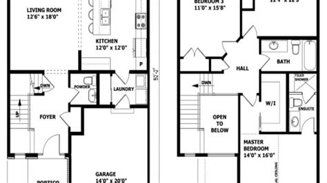 2 story home floor plans modern 2 story house floor plans modern house