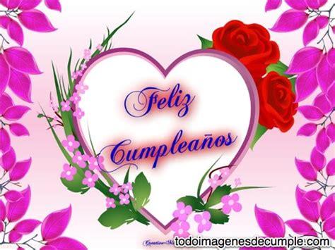 imagenes feliz cumpleaños flores im 225 genes de feliz cumplea 241 os con corazones y flores