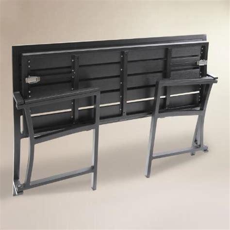 outdoor folding bench gray aluminum outdoor folding bench world market