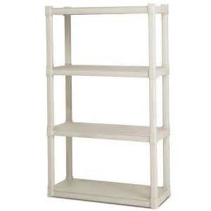 shelving at home depot sterilite 4 shelf 34 5 in w x 57 in h x 14 375 in d