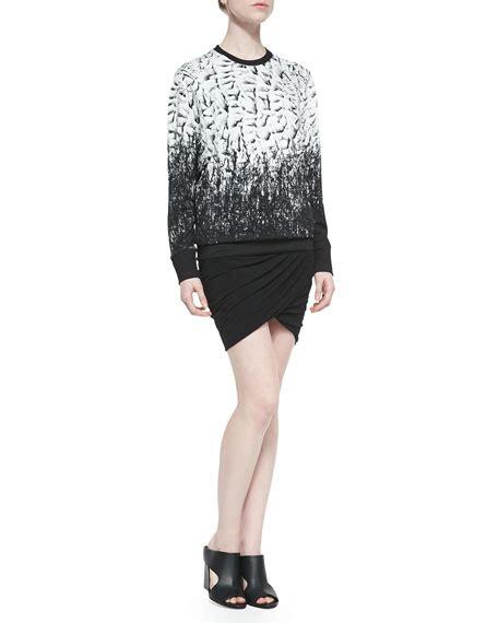 ruched draped skirt helmut lang nova draped ruched mini skirt