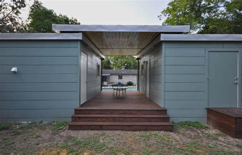 Tiny House For Backyard 14x14 modern dwelling double tiny house with breezeway by