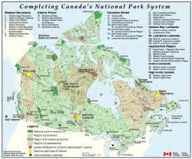 national park canada map national parks canada map