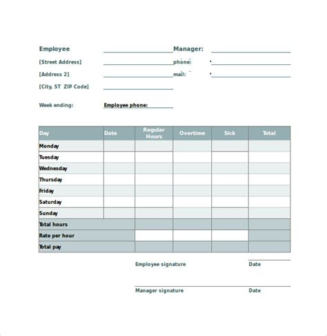 timesheet calculator template employee timesheet calculator 10 sles exles