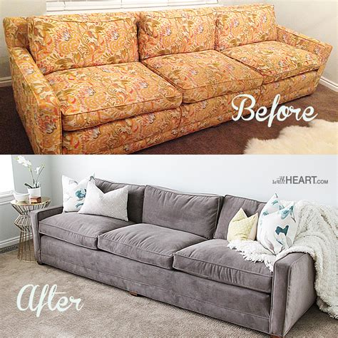 Can A Leather Sofa Be Reupholstered In Fabric by Remodelaholic 28 Ways To Bring New To An Sofa