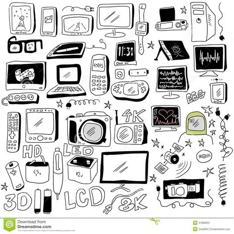 doodle new doodle new technology royalty free stock photography