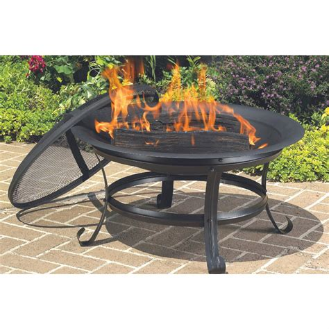 Metal Firepit Cobraco 174 Steel Pit With Scroll Legs 175254 Pits Patio Heaters At Sportsman S Guide