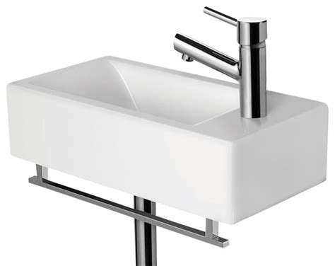Modern Rectangular Bathroom Sinks Alfi Brand Ab108 Small Modern Rectangular Wall Mounted