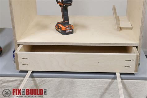 build false bottom drawer how to build a flip top tool stand fixthisbuildthat