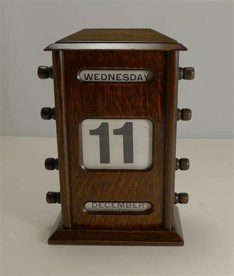 antique perpetual desk calendar antiques atlas antique oak perpetual desk