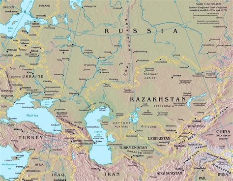 map of europe russia and central asia map of russia political regional