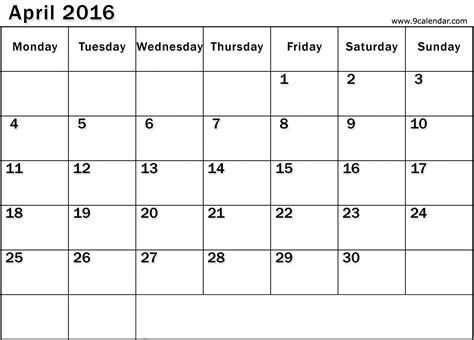 Calendar 2017 Monthly Word April 2017 Calendar Word Monthly Calendar 2017