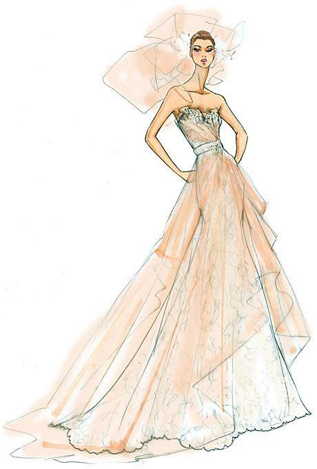 fashion illustration wedding dresses sle wedding dresses versus the real deal