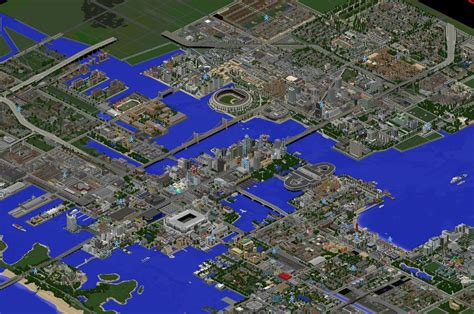 minecraft world map city homes greenfield the most realistic modern city in minecraft