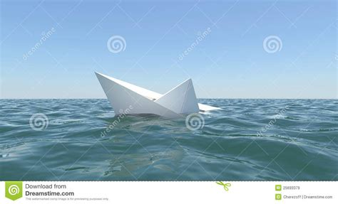 libro who sank the boat white paper boat is sinking in the sea water royalty free stock images image 25693379