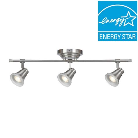 fixed track lighting kits aspects solo 3 light satin nickel dimmable fixed track