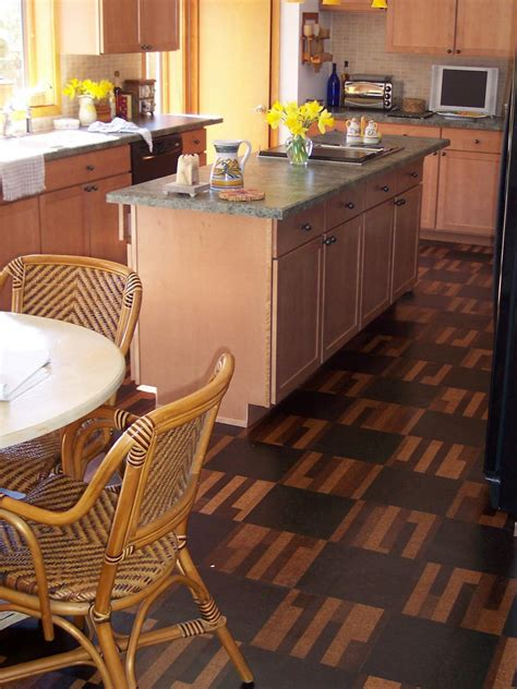 cork floors in kitchen cork flooring for your kitchen hgtv