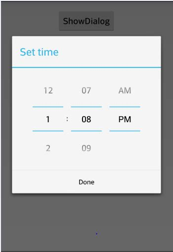 android date picker android time picker exle