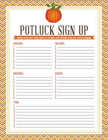potluck sign up sheet printable search results